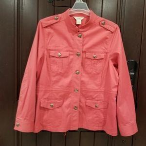 LL Bean Women's Safari Jacket Size XL Cargo Pocket